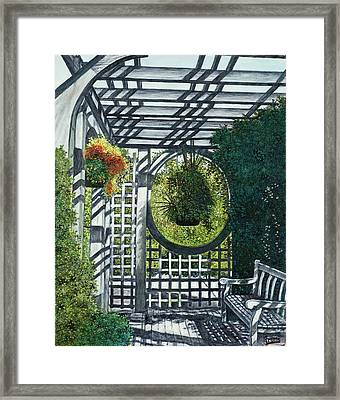 Framed Print featuring the painting Shaw's Garden Place Of Solitude by Michael Frank
