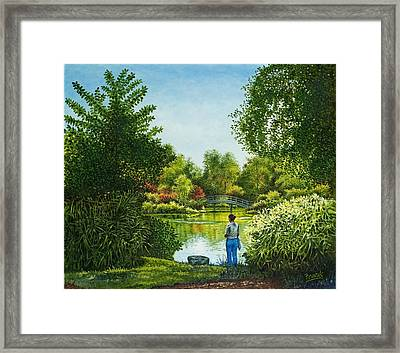Framed Print featuring the painting Shaw's Garden's Admirer by Michael Frank