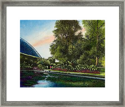 Framed Print featuring the painting Shaw's Gardens Climatron by Michael Frank