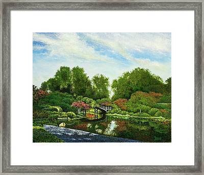 Framed Print featuring the painting Shaw's Japanese Gardens by Michael Frank