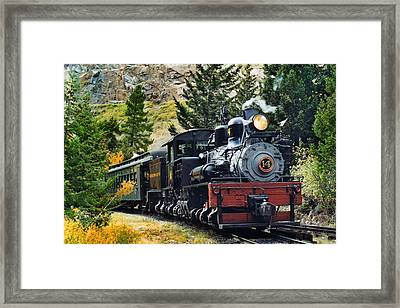Shay On The Georgetown Loop Framed Print