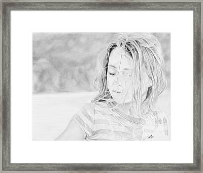 Shayla Framed Print by Shevin Childers