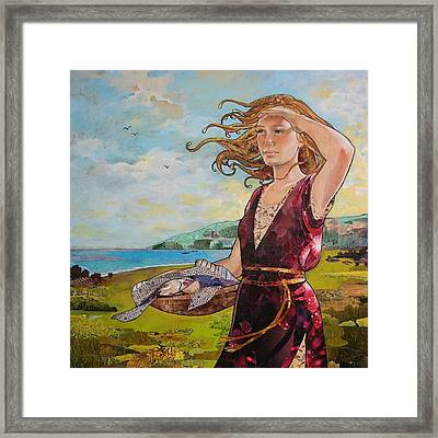 She Baked The Loaves And Dried The Fishes Framed Print