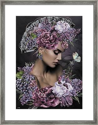 She Cast Her Fragrance Framed Print