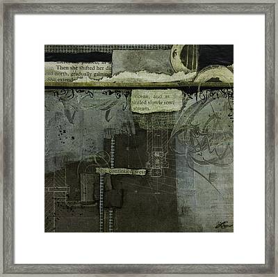 She Continued West  Framed Print by Laura Lein-Svencner