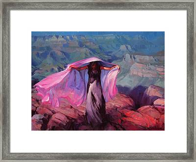 She Danced By The Light Of The Moon Framed Print