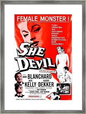 She Devil, Blonde Woman Featured Framed Print