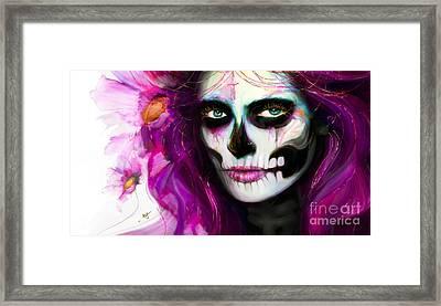 She, Dia De Los Muertos Framed Print