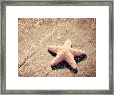 She Dreamed Of Becoming A Star Framed Print