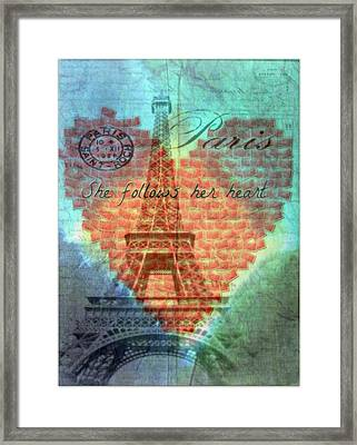 She Follows Her Heart Framed Print by Kathy Bucari