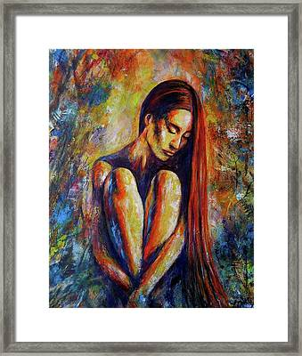 She Found Her Stillness Framed Print