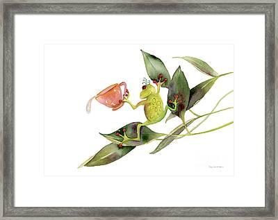 She Frog Framed Print by Amy Kirkpatrick