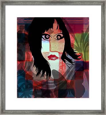 She Is Framed Print