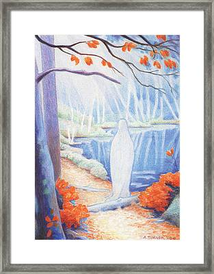 She Is Still Framed Print by Amy S Turner