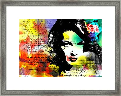 She Knew Framed Print by Ramneek Narang