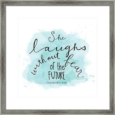 She Laughs Framed Print