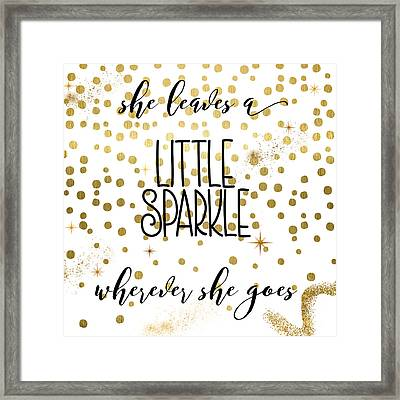 She Leaves A Little Sparkle Framed Print by Mindy Sommers