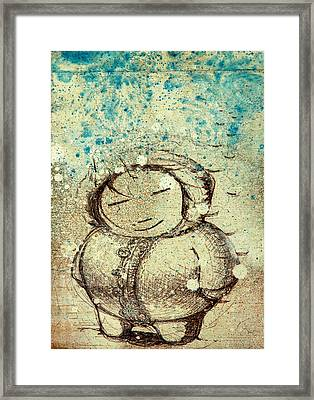 She Liked The Cold Framed Print by Konrad Geel
