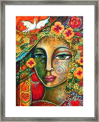 She Loves Framed Print by Shiloh Sophia McCloud
