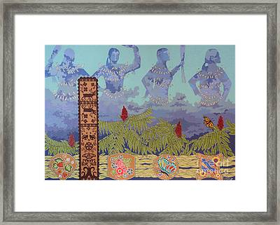 Framed Print featuring the painting She Makes Rain by Chholing Taha