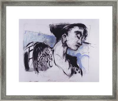 She Pauses Framed Print by Mykul Anjelo