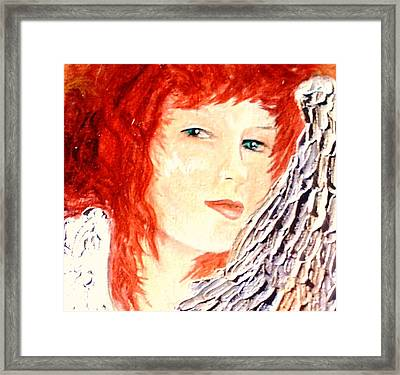 She Rests On Wings Framed Print by J Bauer