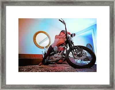 She Rides- Framed Print