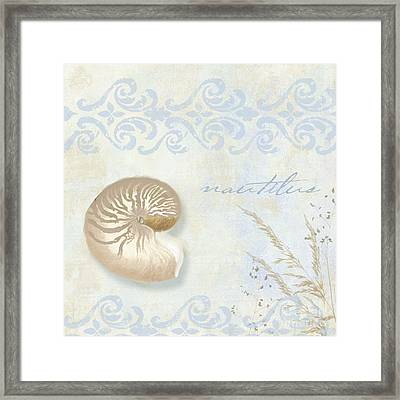 She Sells Seashells I Framed Print by Mindy Sommers