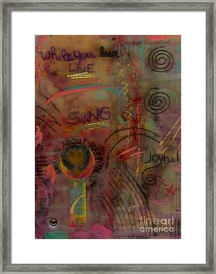 She Sings Songs Framed Print