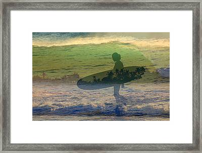 She Surf Framed Print by Jim  Welch