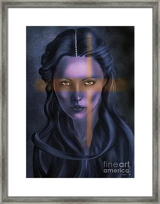 She... The Eyes. Framed Print by Gabriela Tasiro