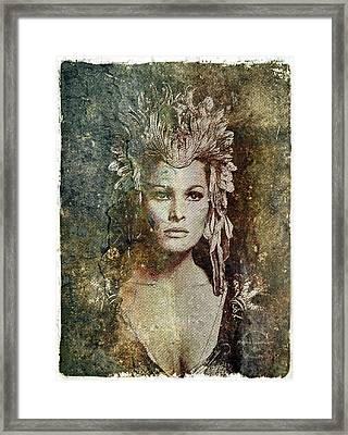 Ursula Andress - She Framed Print