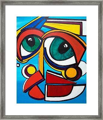 She Framed Print by Valerie Wolf
