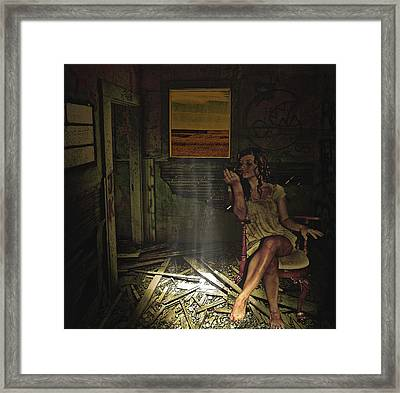 She Waits For Him To Return Framed Print by Jeff Burgess