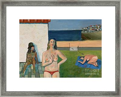 Framed Print featuring the painting She Walks In Beauty by Paul McKey