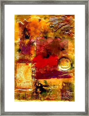 She Wants Gold For Her Cherries Framed Print
