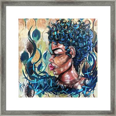 She Was A Cool Flame Framed Print