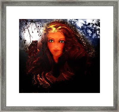 She Watches Framed Print by Patricia Motley