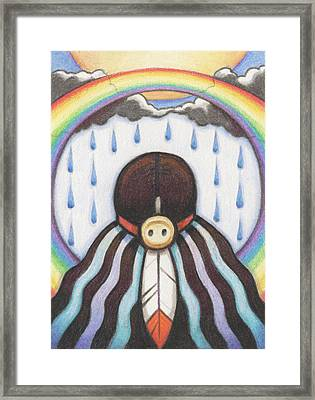 She Who Brings The Rain Framed Print by Amy S Turner