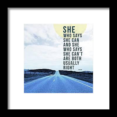 Road Runner Framed Prints