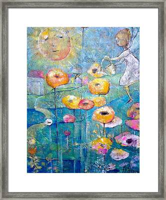 She Who Waters Framed Print