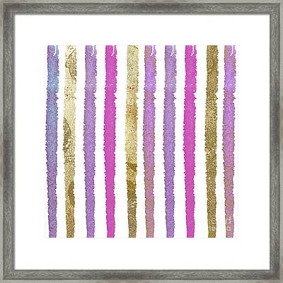 She Wore Stripes Framed Print by Mindy Sommers