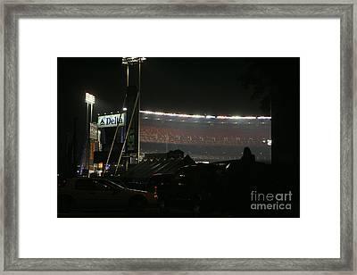 Shea Stadium Framed Print by Chuck Kuhn