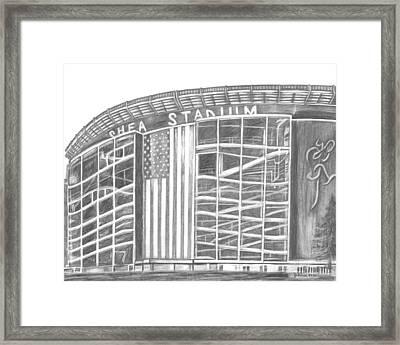 Shea Stadium Framed Print by Juliana Dube