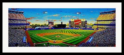 Shea Stadium Paintings Framed Prints