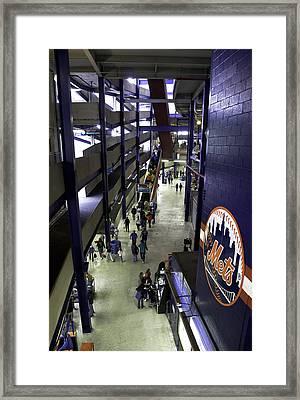 Shea Stadium Walkways Framed Print by Paul Plaine