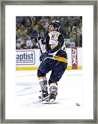 Shea Weber Framed Print by Don Olea