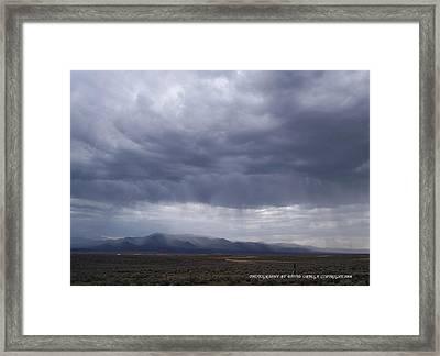 Shear Rainfall Framed Print by David Ortega