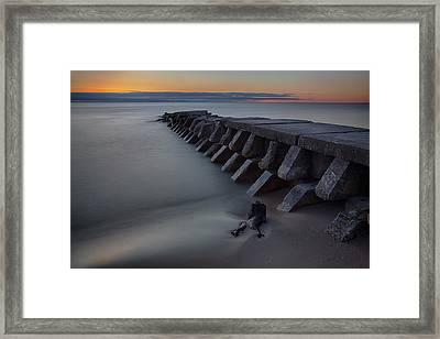 Sheboygan Jetty 1 Framed Print