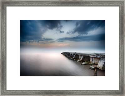 Sheboygan Jetty 4 Framed Print